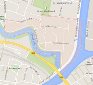 Google kaart Patrimoniumbuurt